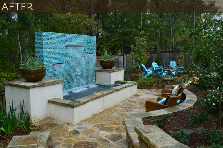 Grand Water Feature and Complete Backyard Transformation